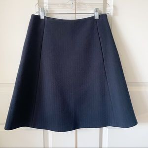 Jil Sander Navy Textured A-Line Skirt